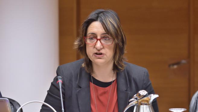 Rosa Pérez en su comparecencia en Les Corts