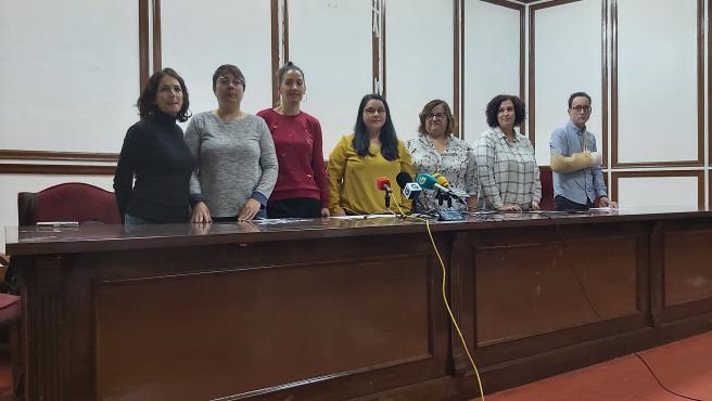 Rueda de prensa del comité de empresa de Unitono en Ourense.