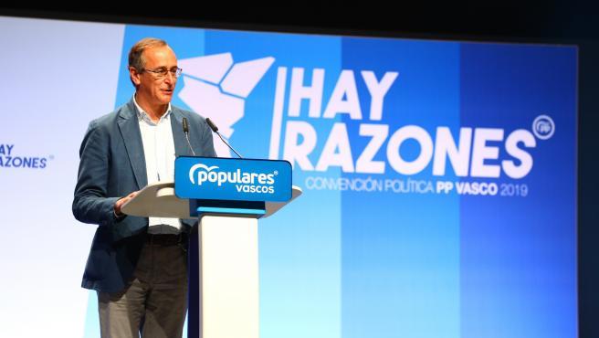 10N.-El PP vasco critica a los partidos que lanzan 'discursos patrioteros' y 'desenfocan la realidad'.