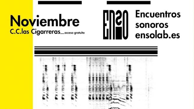 Cartel del festival ENSO de música electrónica que se celebra en Alicante.