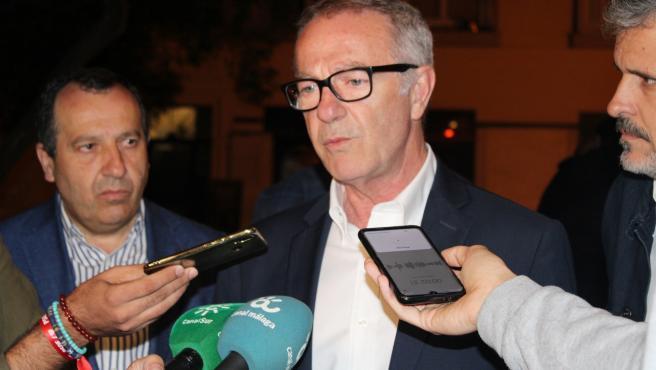 El ministro de Cultura en funciones, José Guirao, atiende a los medios en Málaga