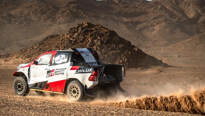 Fernando Alonso, durante el rally Al Ula - Neom.