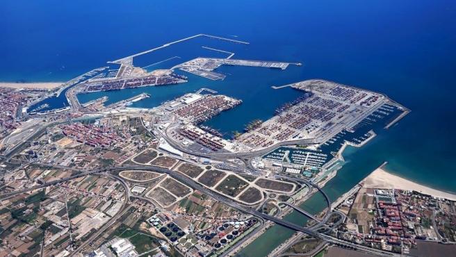 Imagen del Puerto de València desde el aire