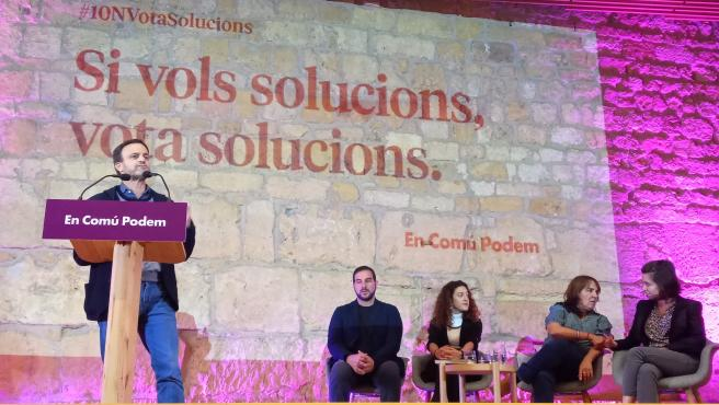Jaume Asens, Ismael Cortés, Aina Vidal, Yolanda López y Carla Aguilar
