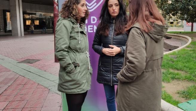 Las candidatas al Congreso y Senado de Unidas Podemos, Marta Abengoechea y Elena García