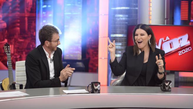Laura Pausini anuncia en 'El hormiguero' que será 'coach' de 'La Voz'.