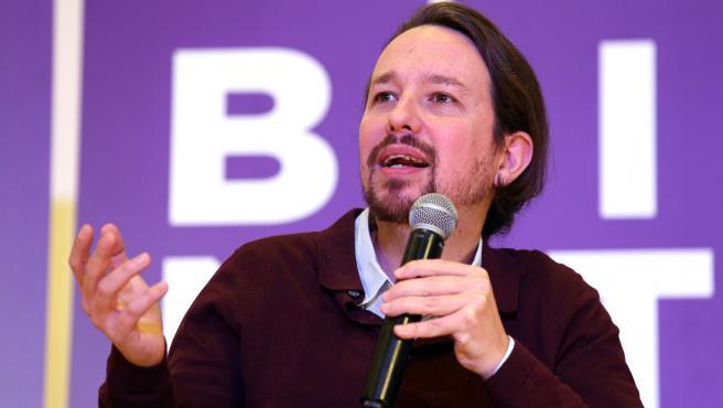 Acto del secretario general de Podemos, Pablo Iglesias, en Toledo.