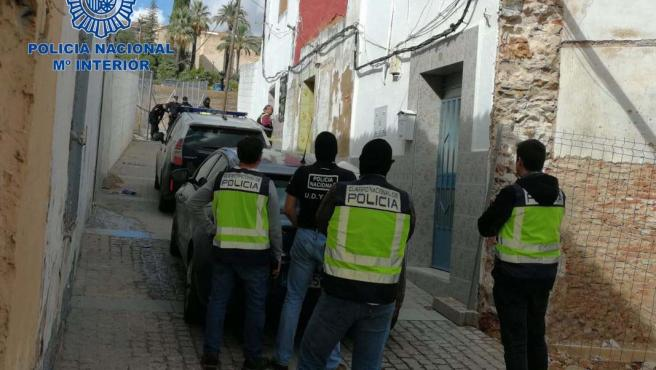 Actuación en un punto de venta de droga en Badajoz