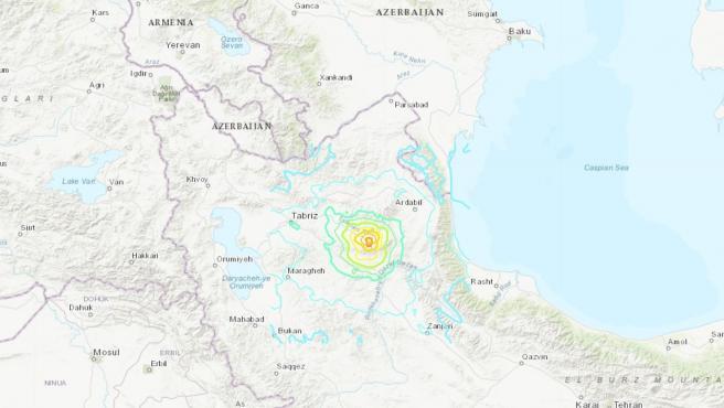 AMP.- Irán.- Al menos cinco muertos y más de 120 heridos a causa de un terremoto