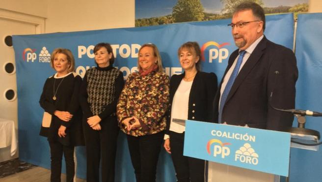 Cierre de campaña de la coalición electoral PP-Foro
