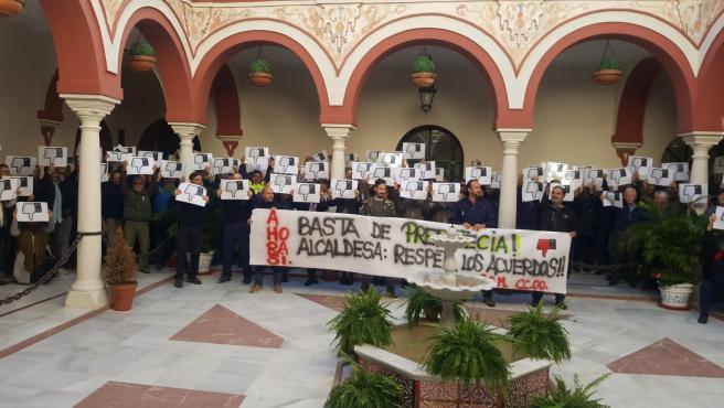 Concentración sindcal en Alcalá