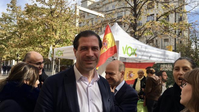 El candidato de Vox al Congreso de los Diputados por Zaragoza, Pedro Fernández
