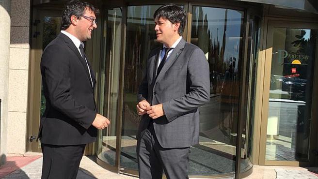 El consejero de Ciencia del Principado, Borja Sánchez, acude al tanatorio de La Paz por el fallecimiento de la científica asturiana Margarita Salas