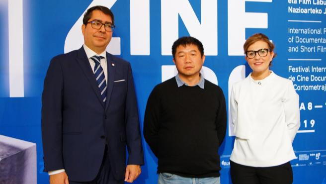 El director chino Wang Bing, Premio Mikeldi de Honor
