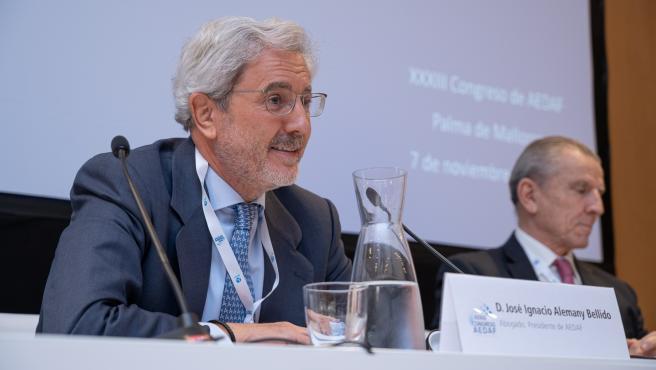 El presidente de Aedaf, José Ignacio Alemany, en el Congreso Nacional de la entidad.