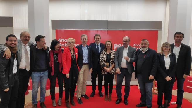 El presidente de la Generalitat valenciana, Ximo Puig, ha participado en un acto de campaña en Teruel