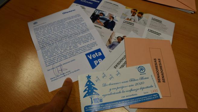 El PSOE denuncia que la alcaldesa de Moraña pide el voto con lotería