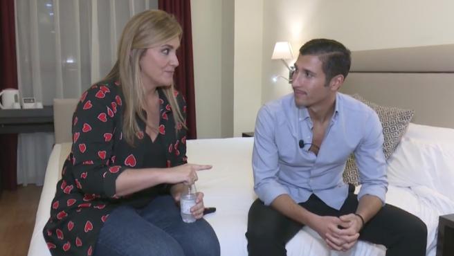 Gianmarco ('GH VIP') conversa con Carlota Corredera en 'Sálvame'.