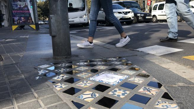 Mosaico de Ememem en Urquinaona