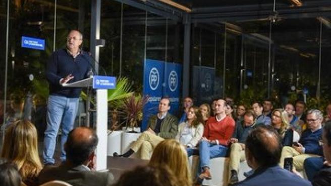 José Antonio Monago en el acto de cierre de campaña en Cáceres