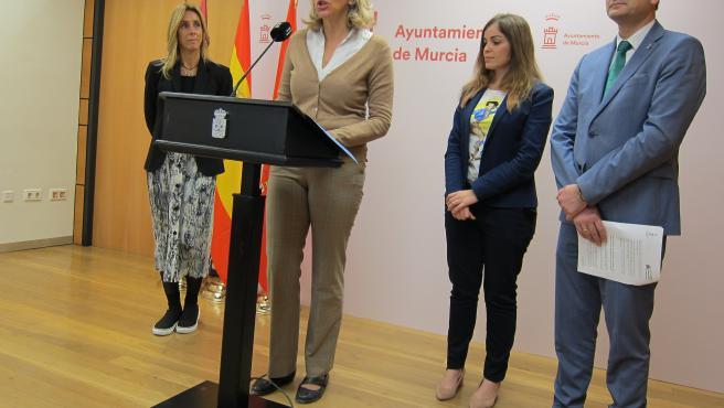 La concejal de Agenda Urbana, Mercedes Bernabé en rueda de prensa