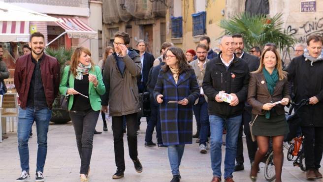 Més Compromís y el candidato a la Presidencia del Gobierno, Íñigo Errejón, en València