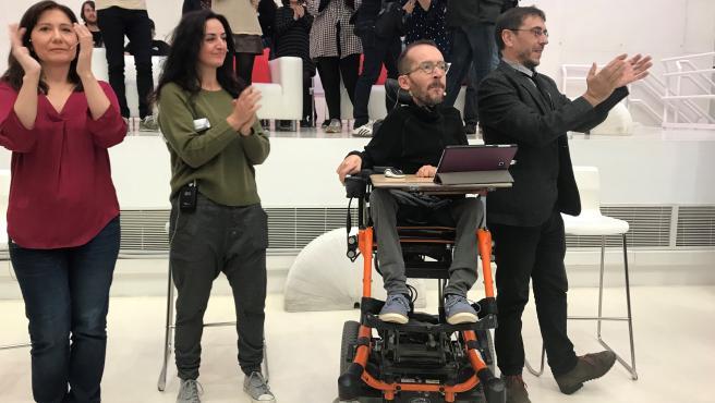 Mitin de Unidas Podemos en Zaragoza con Juan Carlos Monedero.