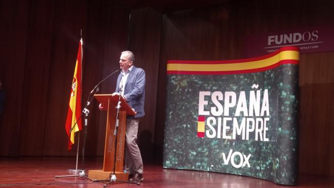 Ortega Smith en el acto de campaña celebrado en Palencia.