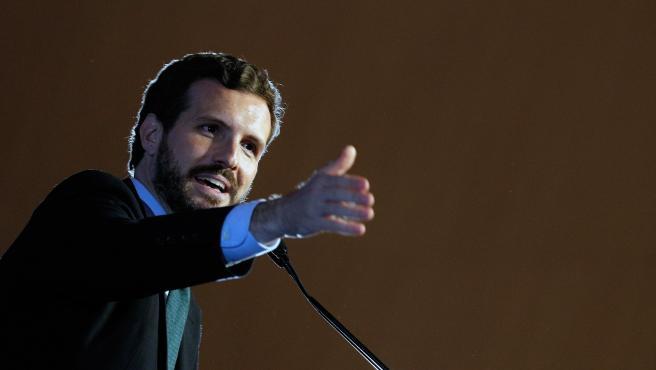 Pablo Casado, en un acto en Valencia.