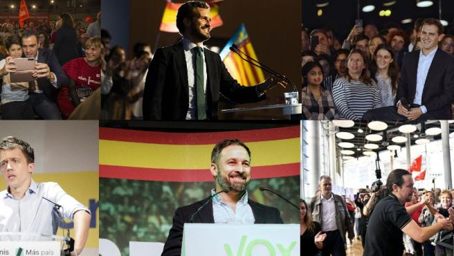 Paso de los líderes por la Comunitat Valenciana en la campaña 'exprés'