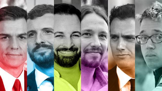 Principales candidatos a las elecciones generales.