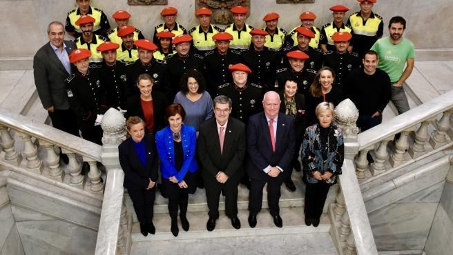 Recepción en el Ayuntamiento de Bilbao a la Policía Municipal con motivo de su 175º aniversario.