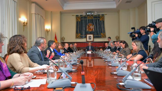 Reunión de coordinación del plan de especialización de juzgados sobre cláusulas abusivas en Madrid