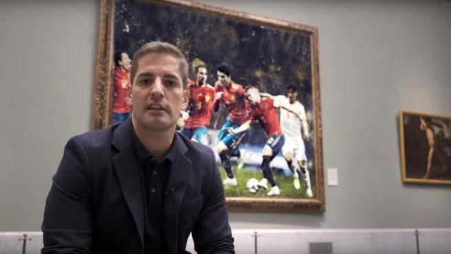 Robert Moreno, seleccionador español, desde el Museo del Prado.