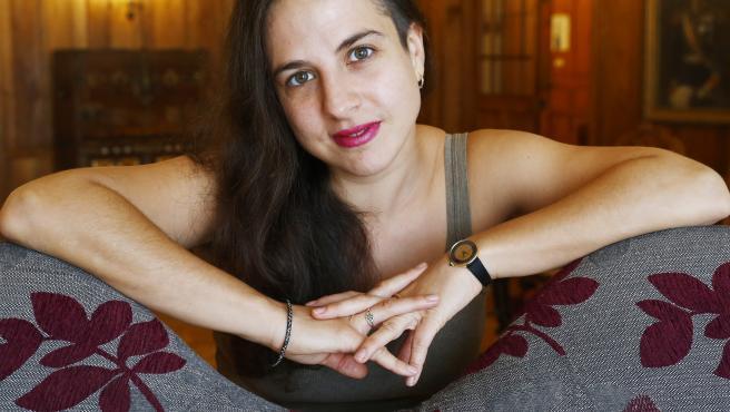 SANTANDER. 13/08/2019.- La escritora, Cristina Morales quien protagonizará esta tarde el ciclo de Los Martes Literarios. Foto Esteban Cobo.