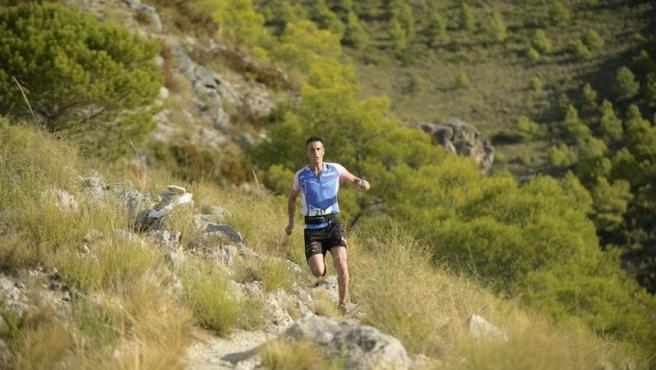 Un corredor durante una prueba