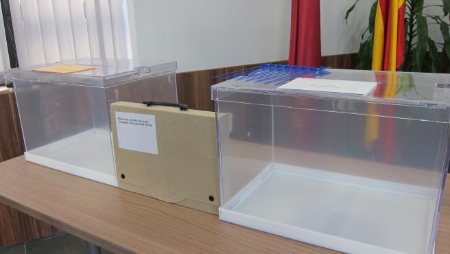 Urnas con motivo de las elecciones generales del 10 de noviembre