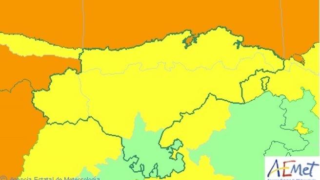 Avisos activos en Cantabria este domingo