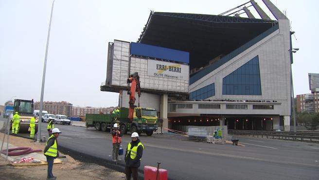 Continúan las demoliciones del estadio Vicente Calderón