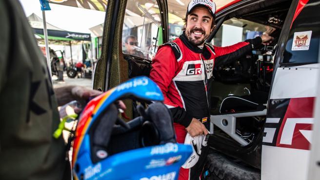 Fernando Alonso, en el Rally de Arabia Saudí