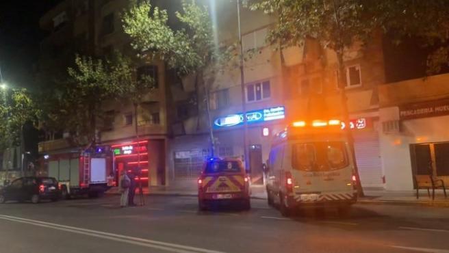 Incendio de vivienda en Badajoz