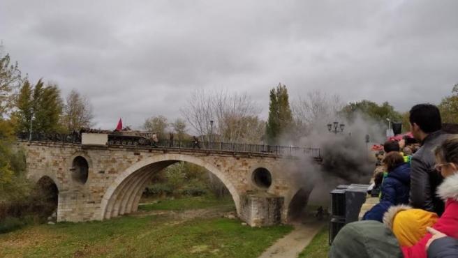 Recreación de la batalla de Stalingrado en Zamora