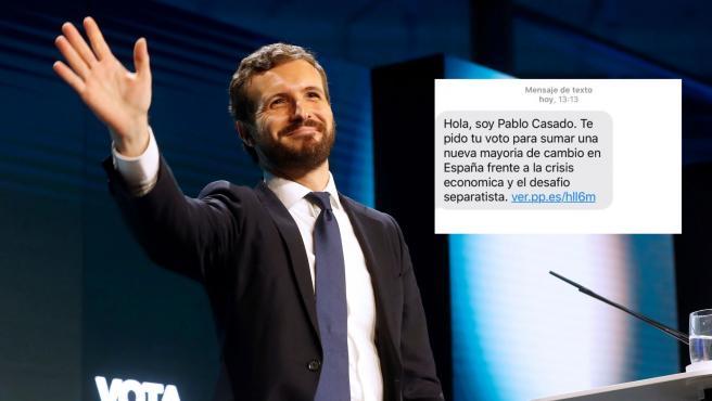El PSOE denuncia al PP por el envío de SMS de Pablo Casado a 1,2 millones de personas