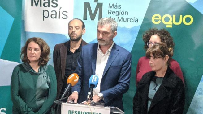 El cabeza de lista de Más País-Equo, Óscar Urralburu valorando los resultados