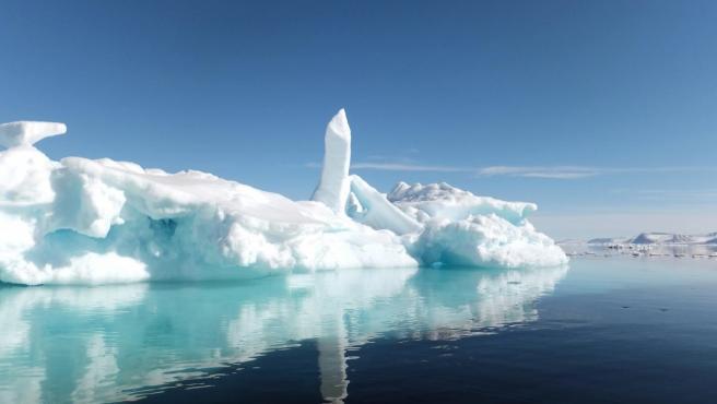 Imagen del Ártico, hielo en la isla norteña de Baffin.