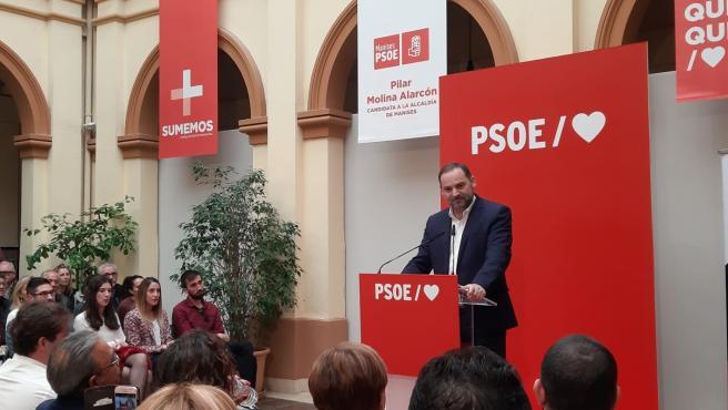 José Luis Ábalos, cabeza de lista del PSOE en la provincia de Valencia, en imagen de archivo en un acto en Manises
