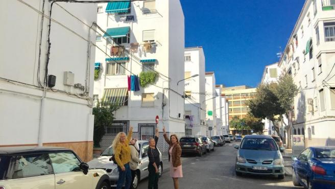 La concejala del grupo municipal socialista en Málaga capital Begoña Medina sobre los cables eléctricos