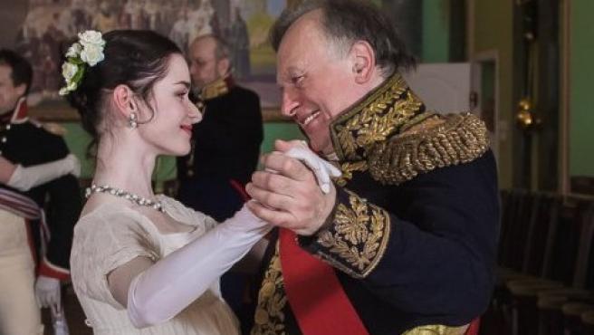 Imagen de Oleg Sokolov y su víctima, Anastasia Yeshenko, en una recreación histórica.