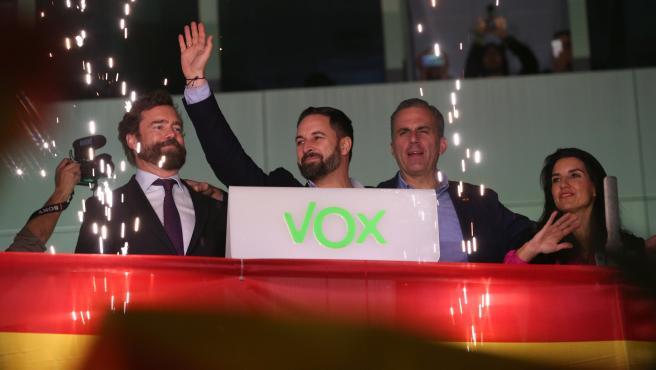 Santiago Abascal, Iván Espinosa de los Monteros, Rocío Monasterio y Javier Ortega Smith.