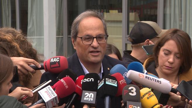 Torra evita condenar el corte de Tsunami, responsabiliza a Sánchez y dice que los Mossos no cargarán
